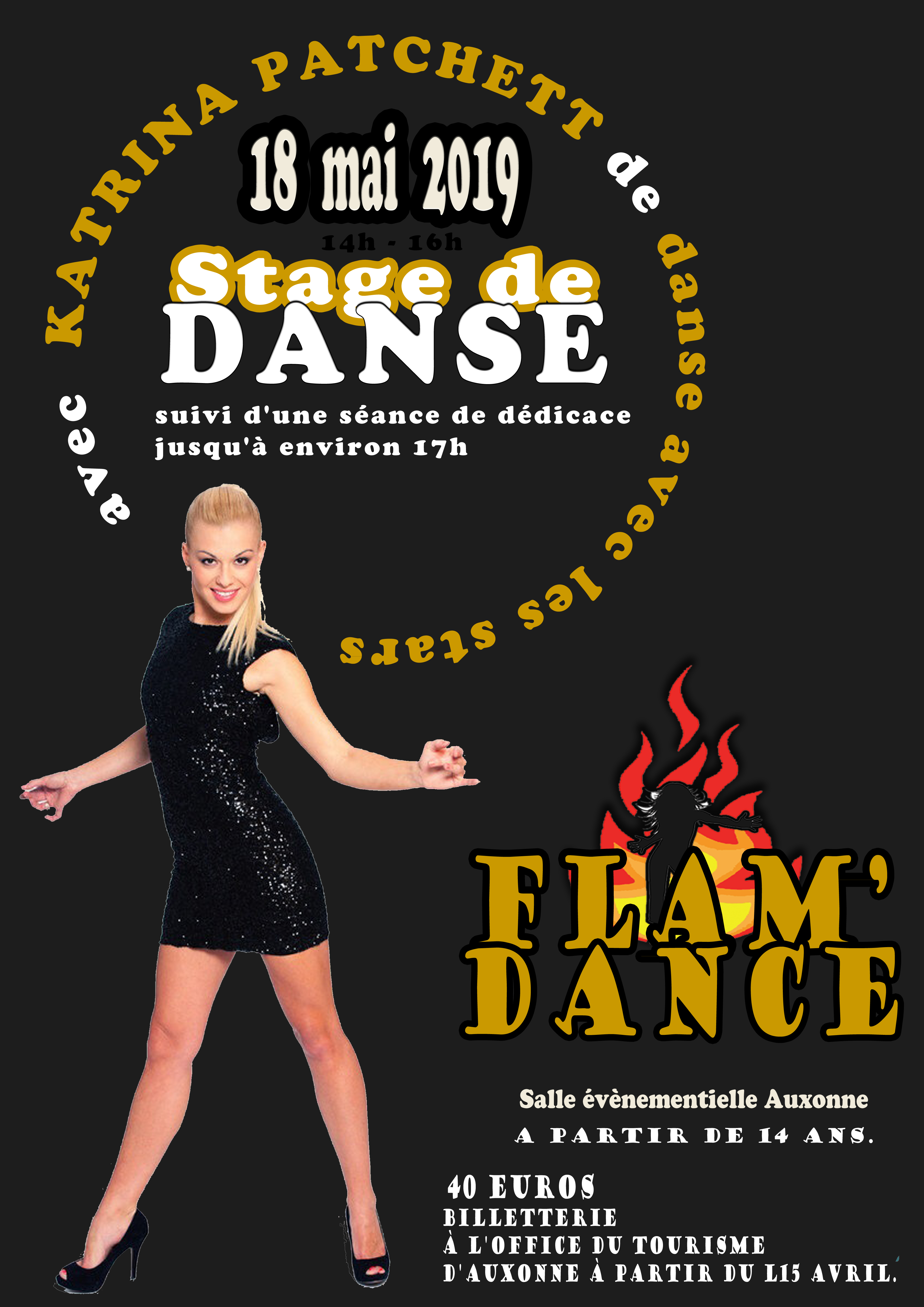 stage de danse flam version fond noir